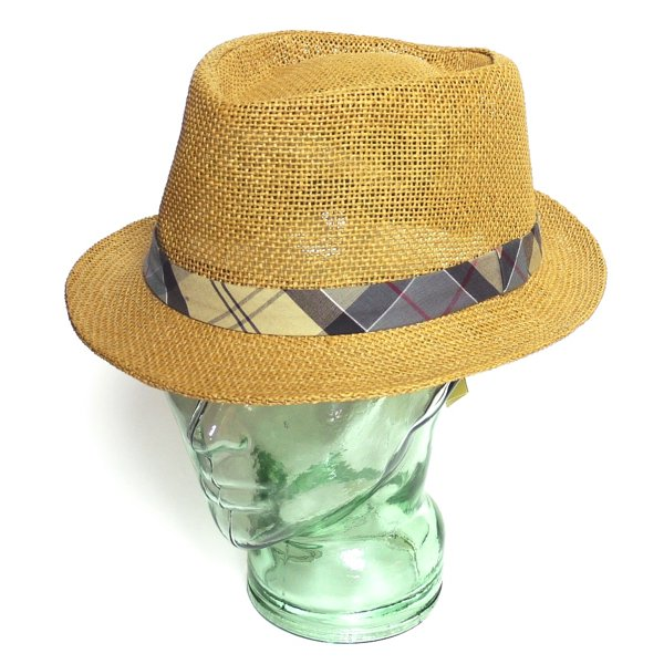 Barbour by David Wood Trilby Hat バブアー トリルビーハット ストローハット 麦わら帽子 [新品] [016]