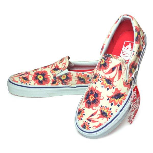 Vans Classic Slip-on Vintage Floral バンズ スリッポン ビンテージフローラル スニーカー USA企画 (Women's有) [新品] [150]
