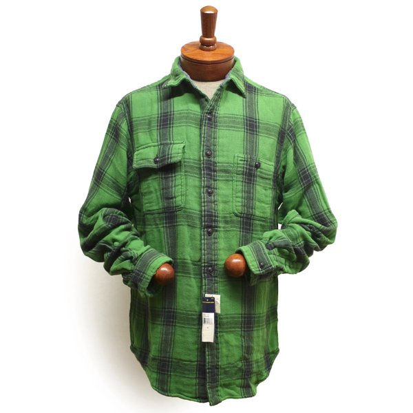 Polo Ralph Lauren ポロラルフローレン 裏地付き ビンテージ ヘビーフランネルシャツ インド綿【$125】 [新品] [125]