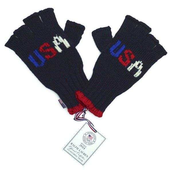 Polo Ralph Lauren ポロラルフローレン USAオリンピックモデル 指貫グローブ 指貫手袋 星条旗【$98】 [新品] [004]