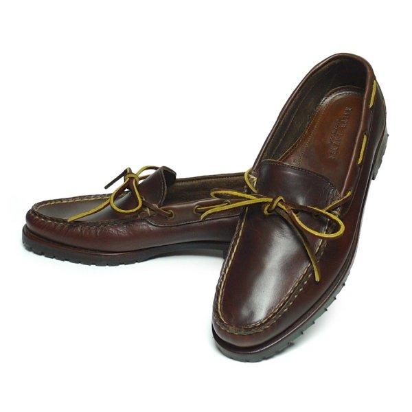 Polo Ralph Lauren ポロラルフローレン モカシンシューズ レザーシューズ 革靴 USA製【$395】[新品] [030]