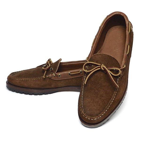 Polo Ralph Lauren ポロラルフローレン モカシンシューズ レザーシューズ 革靴 USA製【$450】[新品] [021]