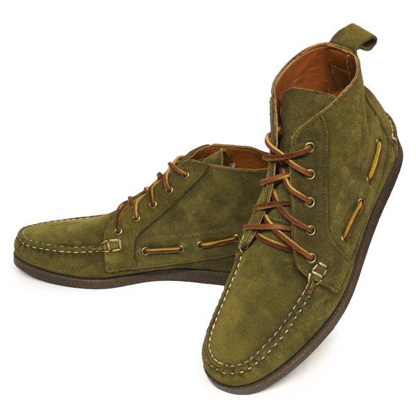 Ralph Lauren Tahoma Chukka Boots ラルフローレン モカシンブーツ レザーシューズ 革靴 USA製【$395】[新品] [031]
