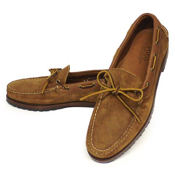 Polo Ralph Lauren KYSE Boat Shoe ポロラルフローレン モカシンシューズ レザーシューズ 革靴 USA製【$450】[新品] [035]