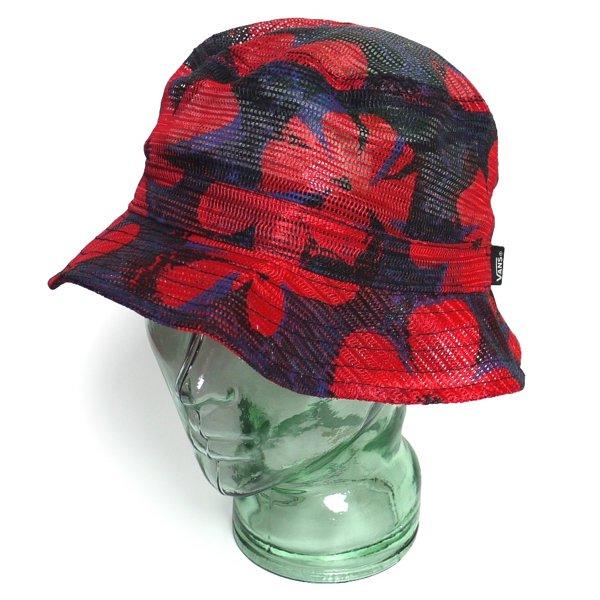 Vans Mesh Bucket Hat バンズ フラワープリント メッシュハット バケットハット 帽子 [新品] [002]