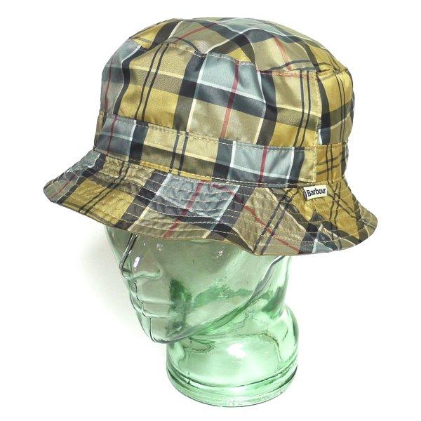 Barbour バブアー タータンチェック リバーシブルハット アウトドアハット レインハット 帽子 [新品] [024]