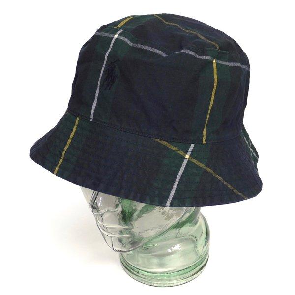 Polo Ralph Lauren ポロラルフローレン タータンチェック コットンハット バケットハット アウトドアハット 帽子【$69.50】 [新品] [037]