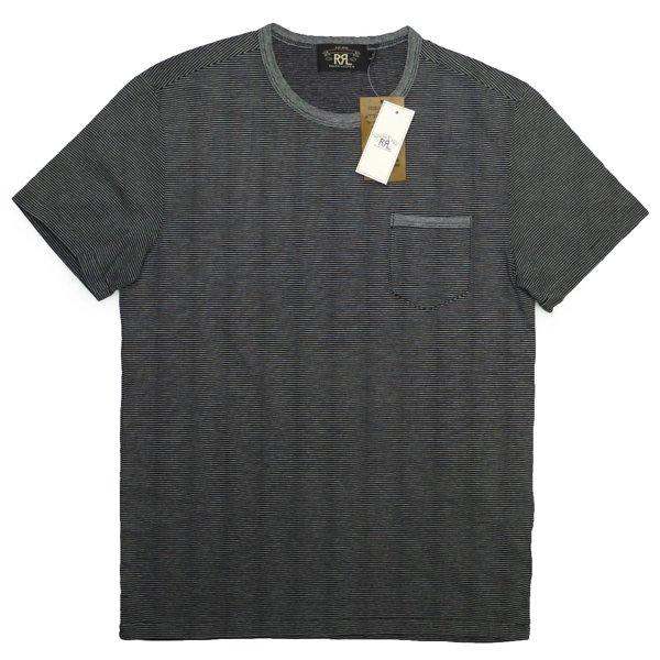 RRL ダブルアールエル Double RL ピンボーダーTシャツ ポケットT【$125】 [新品] [015]