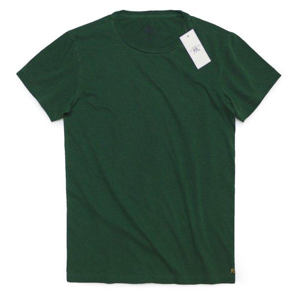 RRL ダブルアールエル Double RL 無地 チューブTシャツ ロゴ刺繍 丸胴【$65】 [新品] [023]