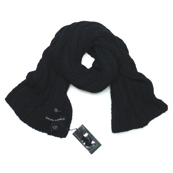 Black Label Denim Ralph Lauren ブラックレーベルデニム ラルフローレン ハンドニットマフラー【$295】 [新品] [001]
