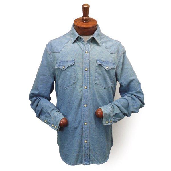 Polo Ralph Lauren ポロラルフローレン インディゴ ウエスタンニットシャツ【$125】 [新品] [136]