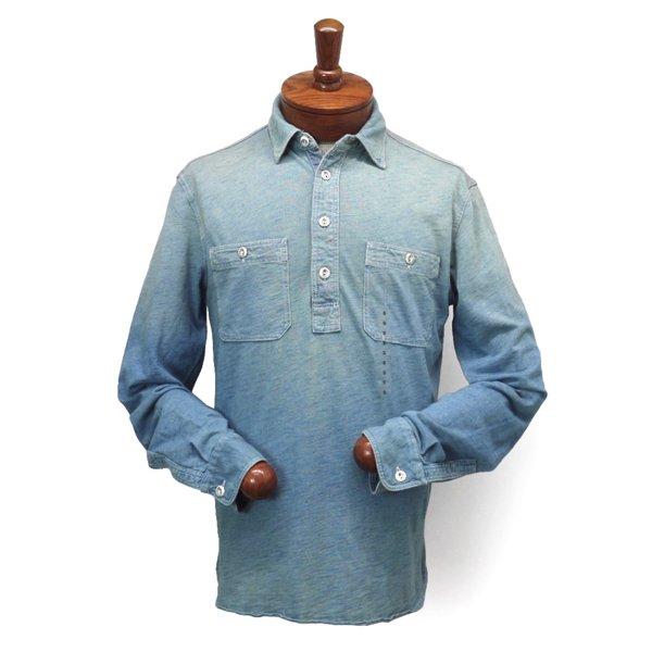 Polo Ralph Lauren ポロラルフローレン インディゴ プルオーバーニットシャツ【$125】 [新品] [137]