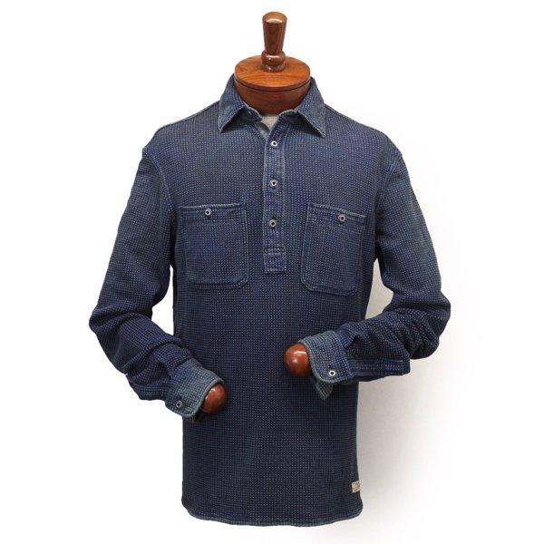 Polo Ralph Lauren ポロラルフローレン インディゴドット プルオーバーニットシャツ【$125】 [新品] [138]