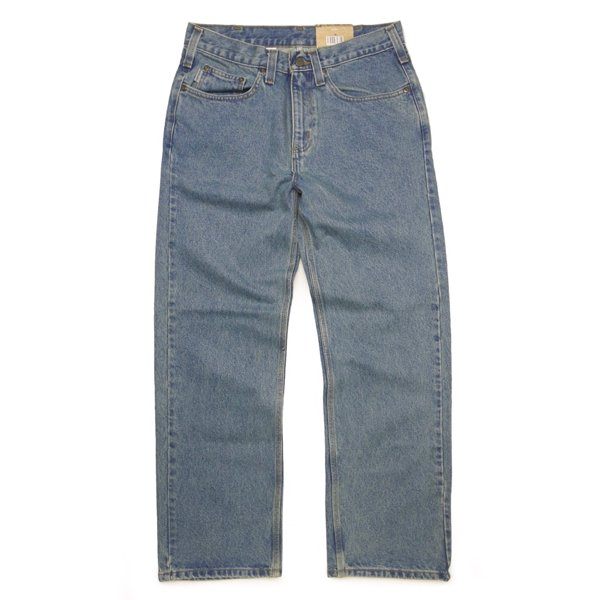 Carhartt Relaxed Fit Straight Leg Jeans カーハート ストレートジーンズ  [新品(IRREGULAR)] [002]