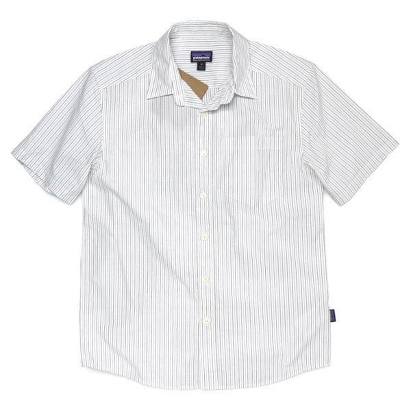 Patagonia Men's Fezzman Shirt パタゴニア フェズマンシャツ 半袖シャツ ストライプ オーガニックコットン [新品] [002]