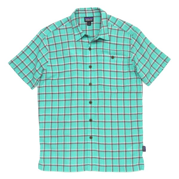 Patagonia Men's A/C Shirt パタゴニア A/Cシャツ 半袖シャツ チェックシャツ オーガニックコットン [新品] [009]