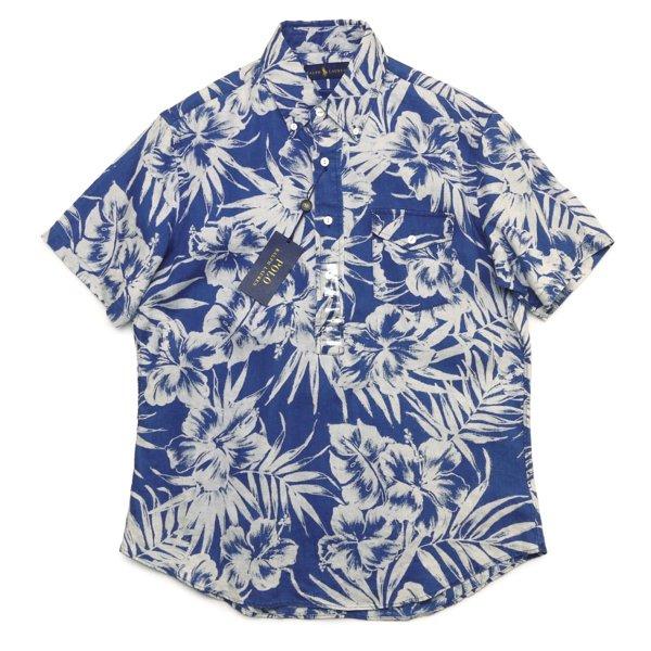Polo Ralph Lauren ポロラルフローレン 花柄 ボタンダウン プルオーバーシャツ リネンシャツ 半袖シャツ [新品] [144]