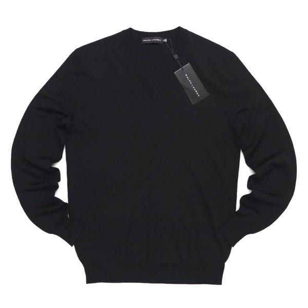 Black Label Ralph Lauren ブラックレーベル ラルフローレン Vネック メリノウールセーター【$295】 [新品] [004]