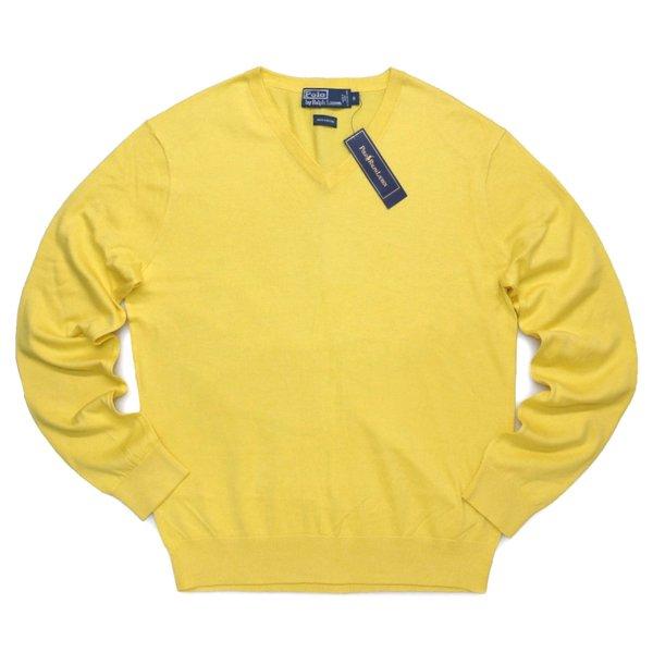 Polo Ralph Lauren ポロラルフローレン Vネック コットンセーター【$185】 [新品] [075]