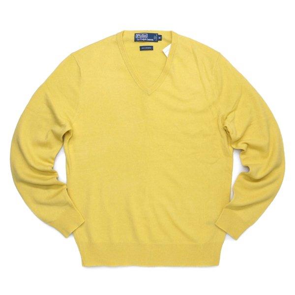 Polo Ralph Lauren ポロラルフローレン Vネック カシミアセーター オールドタグ【$397】 [新品] [097]