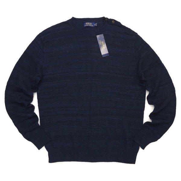 Polo Ralph Lauren ポロラルフローレン インディゴ ジャガードセーター【$245】 [新品] [061]