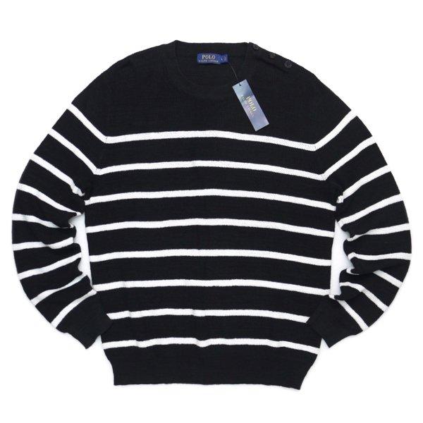 Polo Ralph Lauren ポロラルフローレン リネン×コットン ボーダーセーター【$225】 [新品] [099]