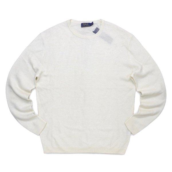Polo Ralph Lauren ポロラルフローレン リネン×カシミア セーター カットソー【$298】 [新品] [101]