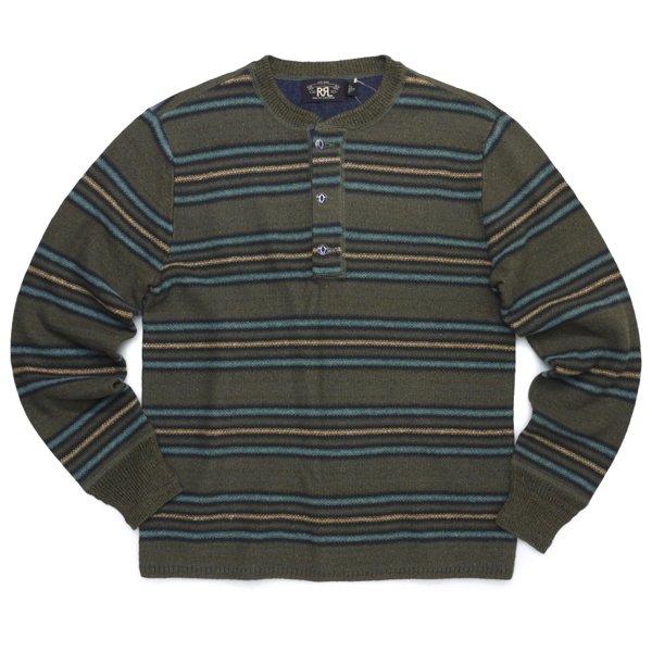RRL DoubleRL ダブルアールエル ヘンリーネック サーマルシャツ 長袖Tシャツ ロンT カットソー【$495】 [新品] [027]