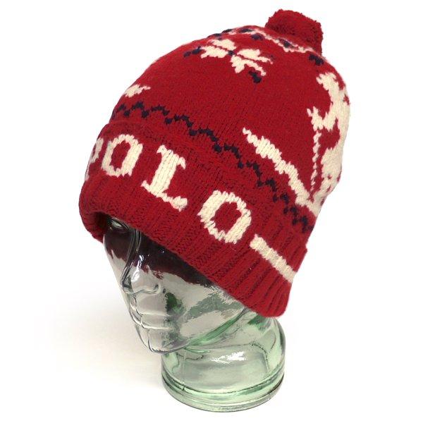 Polo Ralph Lauren ポロラルフローレン ニットキャップ スキーキャップ ニット帽 帽子 旧タグ【$98】 [新品] [029]