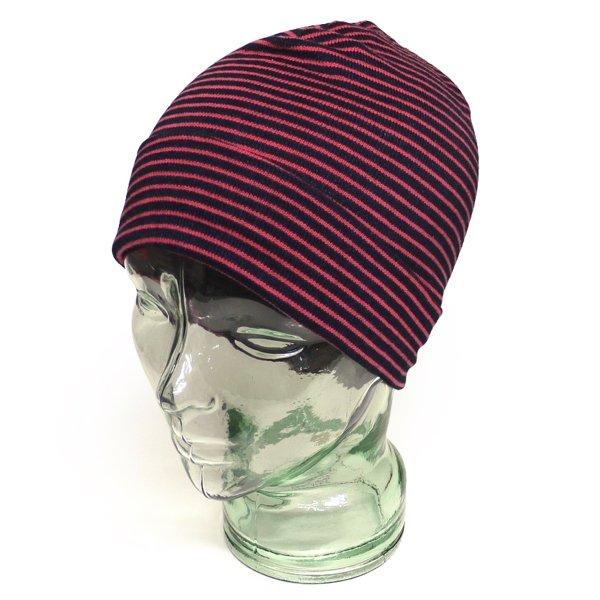 Polo Ralph Lauren ポロラルフローレン ボーダー柄 コットンニットキャップ ビーニー ニット帽 帽子 [新品] [035]