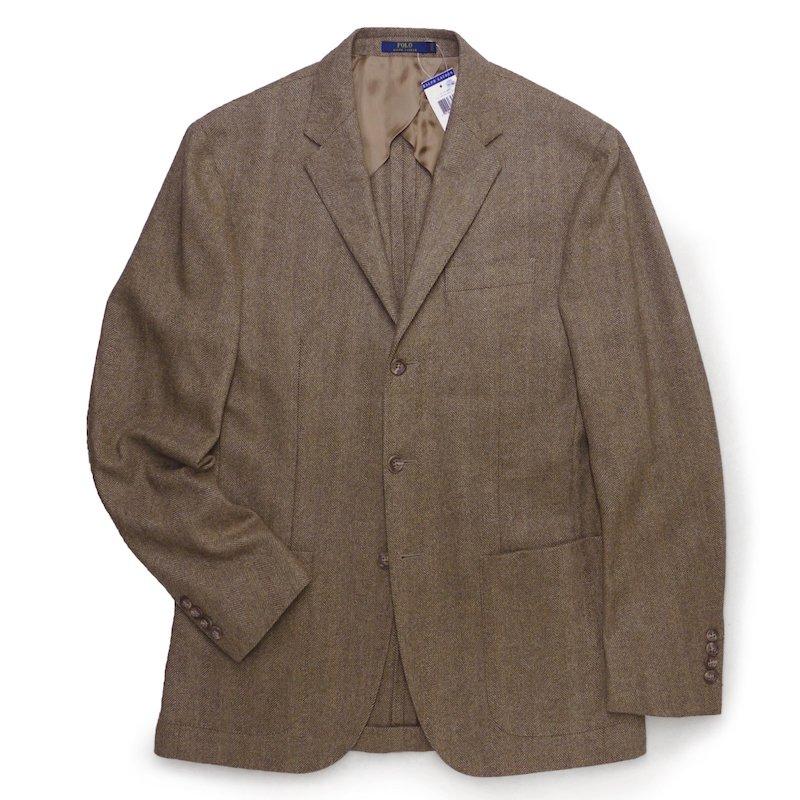 Polo Ralph Lauren ポロラルフローレン ヘリンボーンツィード  テーラードジャケット ブレザー【$895】 [新品] [068]