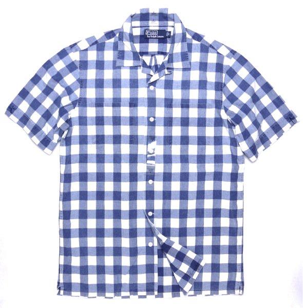 Polo Ralph Lauren ポロラルフローレン半袖ギンガムシャツ-037【$79.50】