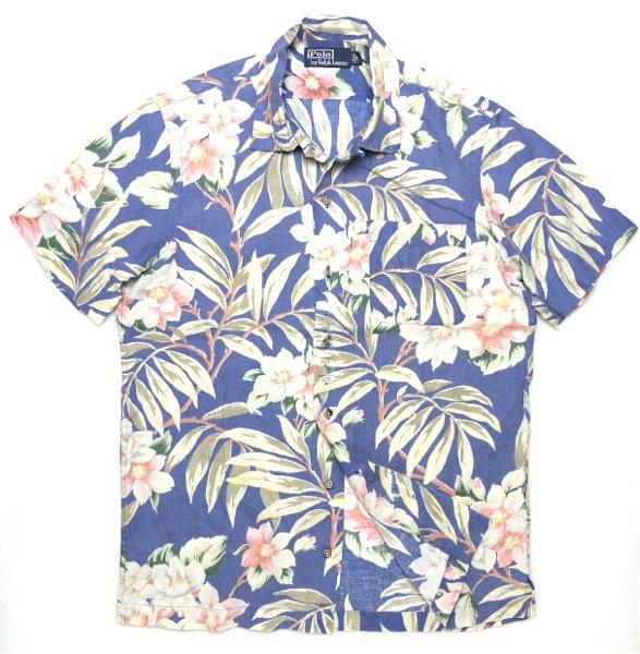Polo Ralph Lauren ポロラルフローレンハワイアンシャツ-041【$98】