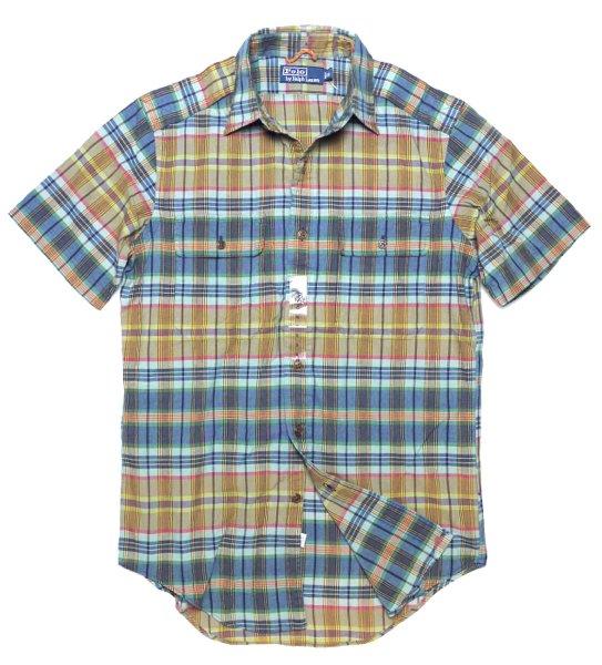 Polo Ralph Lauren ポロラルフローレンマドラスチェック 半袖シャツ-038