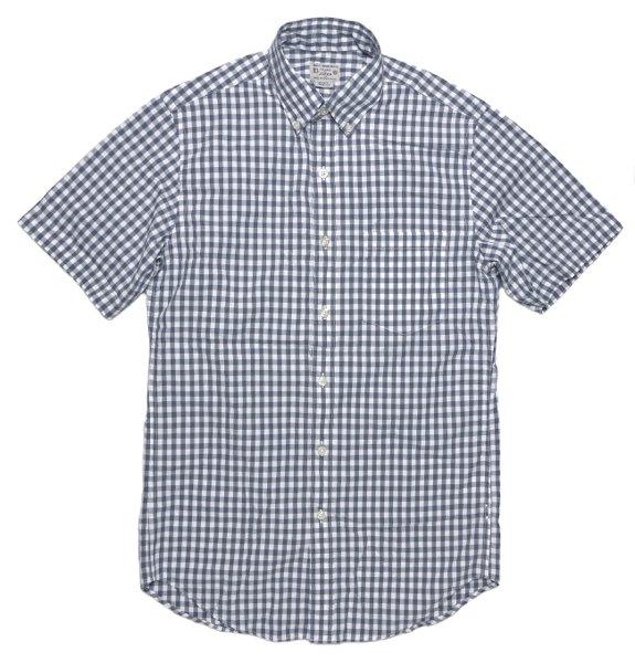 J.crew (ジェイクルー) ギンガムチェック 半袖B.Dシャツ-028