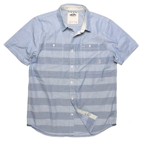 VANS (バンズ) 半袖ボーダーシャツ-006