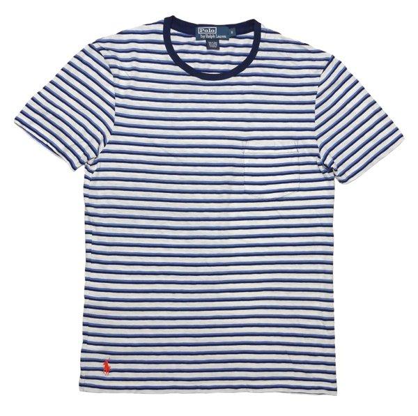 Polo Ralph Lauren ポロラルフローレン ボーダー ポケTシャツ【$65】 [新品] [029]