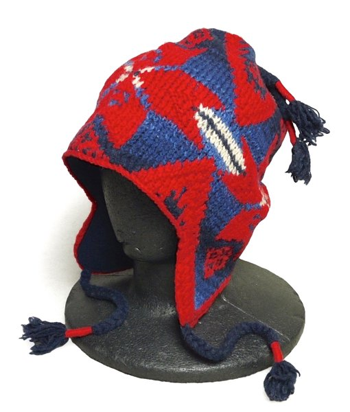 Polo Ralph Lauren ポロラルフローレン ネイティブ柄 ニットキャップ 耳あて付き 帽子【$125】 [新品] [030]