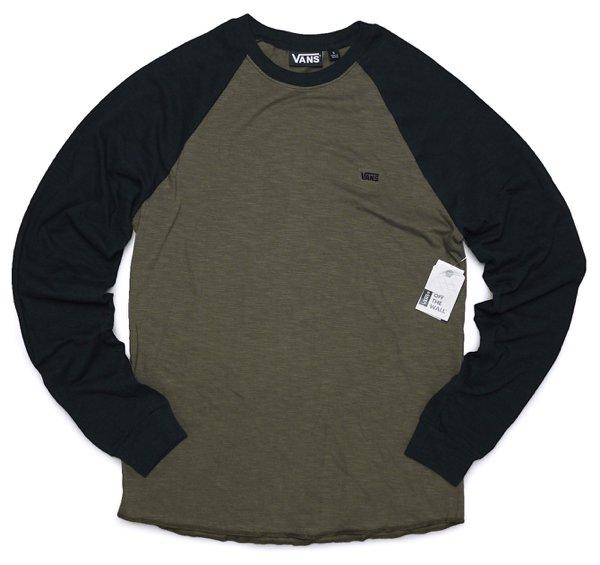 Vans バンズ ラグランスリーブ ベースボールTシャツ 長袖Tシャツ [新品] [016]
