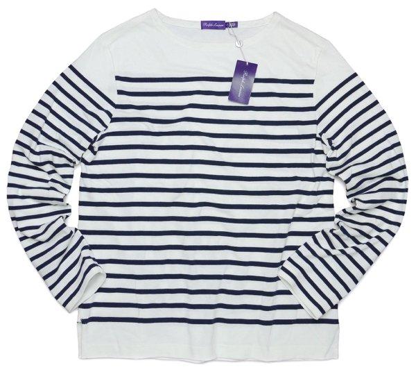 Purple Label パープルレーベル ラルフローレン ピーマコットン ボーダーカットソー 長袖Tシャツ【$350】 [新品] [003]