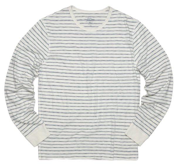 J.crew ジェイクルー スラブニット サーマルシャツ ボーダーTシャツ 長袖Tシャツ [新品] [031]