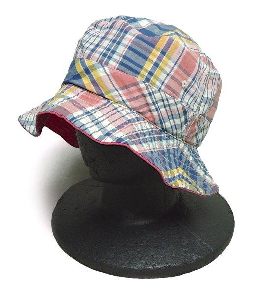 Rugby Ralph Lauren ラグビー ラルフローレン マドラスチェック リバーシブルハット 帽子 [新品] [044]