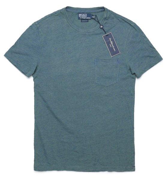 Polo Ralph Lauren ポロラルフローレン インディゴ ポケットTシャツ【$98】 [新品] [040]
