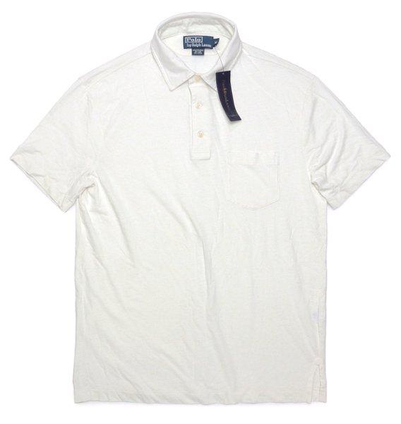 Polo Ralph Lauren ポロラルフローレン オートミール リネンポロシャツ【$98】 [新品] [035]