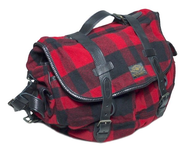 Polo Ralph Lauren ポロラルフローレン バッファロープレイド ハンティングショルダーバッグ 鞄【$395】 [新品] [004]