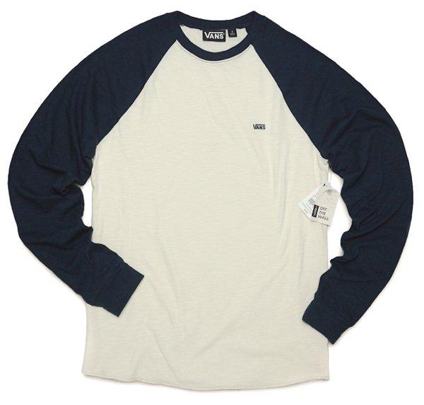 Vans バンズ ラグランスリーブ ベースボールTシャツ 長袖Tシャツ [新品] [015]