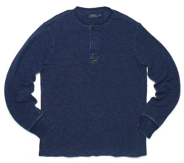 Polo Ralph Lauren ポロラルフローレン インディゴ ヘンリーネック サーマルTシャツ 長袖Tシャツ [新品] [034]