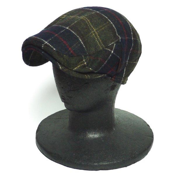 Barbour バブアー ウールタータン ハンチングキャップ 帽子 [新品] [014]