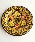 サフィの陶器 皿-S- 黄色