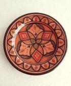サフィの陶器 皿-S- 赤色